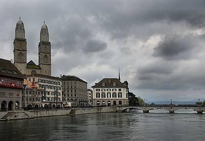 Church Photograph - Zurich Cityscape by Steven Richman