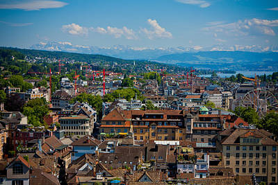 Photograph - Zurich From The Grossmunster by Anthony Doudt