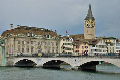 Photograph - Zurich Munster Bridge by Steven Richman