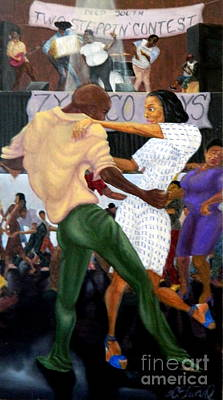 Painting - Zydeco Twostep by Clifford Etienne