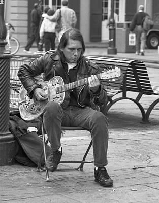 Street Muscians Wall Art - Photograph - zydico Guitar Man by Mel Felix