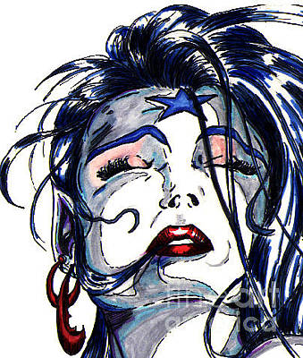Gay Fantasy Drawing - Zyg Headshot by Steven Lamm