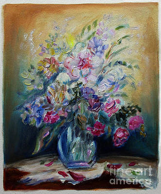 Painting -     Arlene's Flowers  by Mordechai Edel