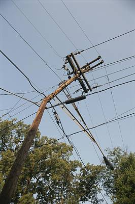 Telephone Poles Photograph -  A Broken Telephone Pole That by Sam Kittner