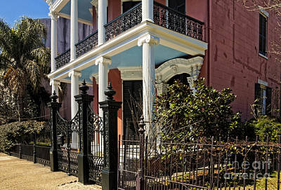 Photograph -  A Greek Revival House On Coliseum Street New Orleans by Kathleen K Parker