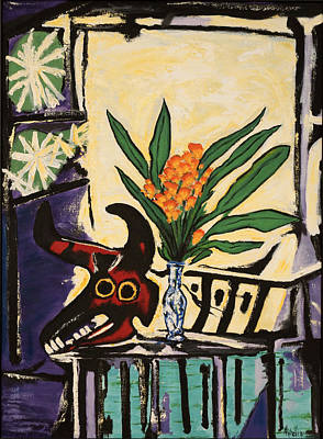 Painting -  After Picasso's Still Life With Bull's Head by Joe Michelli