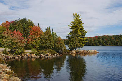 Fall Colour Digital Art -  Algonquin - Canoe Lake by Pat Speirs