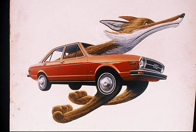 Painting -  Art For Audi Fox 3 by Mel Greifinger