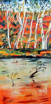 Art Print featuring the painting  Aussiebillabong by Roberto Gagliardi
