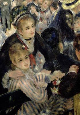 Evening Dress Painting -  Ball At The Moulin De La Galette by Pierre Auguste Renoir