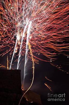 Bastille Day Celebration Photograph -  Bastille Day Fireworks by Sami Sarkis