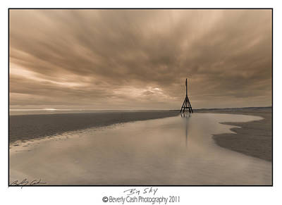 Photograph -  Big Sky - Channel Marker by Beverly Cash
