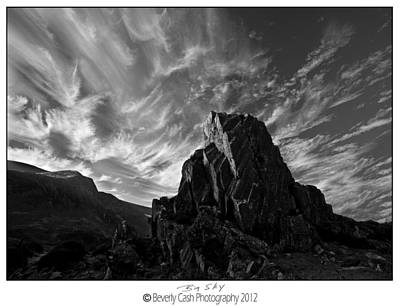Photograph -  Big Sky - Snowdonia by Beverly Cash