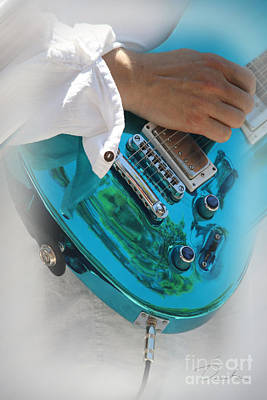 Photograph -  Blue Guitar by Danuta Bennett