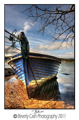 Photograph -  Blues - Boat by Beverly Cash