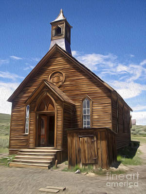 Painting -  Bodie Ghost Town - Church 01 by Gregory Dyer