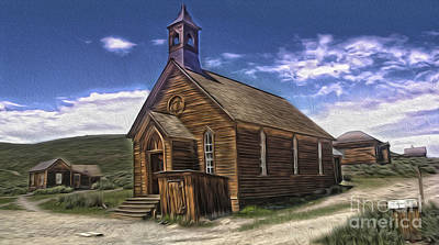 Painting -  Bodie Ghost Town - Church 02 by Gregory Dyer