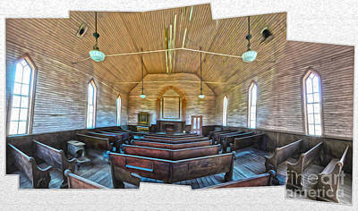 Painting -  Bodie Ghost Town - Church 03 by Gregory Dyer