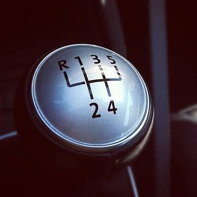 Gears Wall Art - Photograph - 😏 #car #stick-shift #manual #gears by Lukas Reschauer