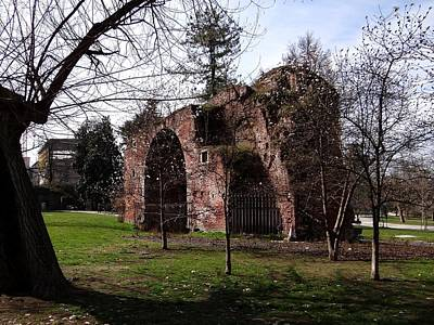 Photograph -  Castello Sforzesco Ruins by Keith Stokes