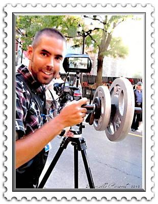 Videographer Photograph -  Chch Tv And Cbc Royal Action  by Danielle  Parent
