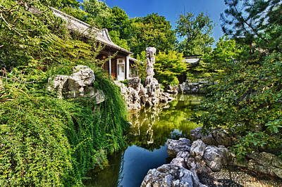 Photograph -  Chinese Garden In Ny by Val Black Russian Tourchin
