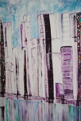 City Art Print by Elisabeth Charbonneau