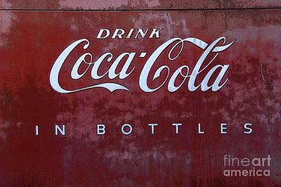 Coca-cola Sign Photograph -  Coca Cola Memorbelia by Bob Christopher