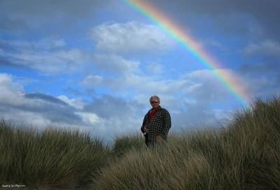 Photograph -  Dad Standing Under The Rainbow by Tyra  OBryant