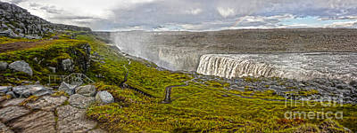 Photograph -  Detifoss Waterfall In Iceland - 02 by Gregory Dyer