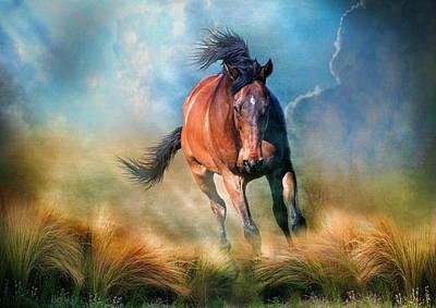 Pegasus Digital Art -  Drifter by Trudi Simmonds