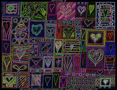 Affordable Drawing -  Find U'r Love Found V 3 by Kenneth James