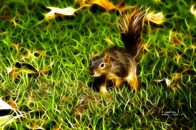 Digital Art - - Fractal - Pointer - Robbie The Squirrel by James Ahn