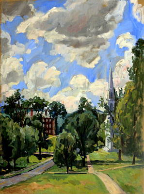 From Williamstown July Clouds Art Print by Thor Wickstrom
