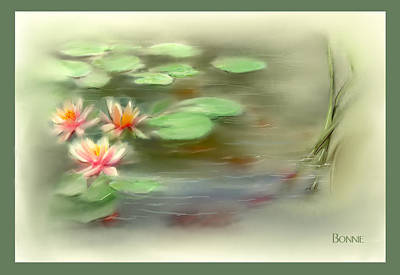 Art Print featuring the painting  Gold Fish Pond by Bonnie Willis