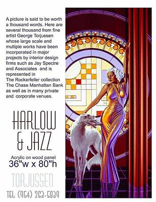 Harlow Painting -  Harlow And Jazz by George Torjussen