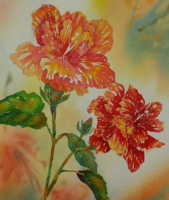 Painting -  Hibiscus Twins by Tara Moorman