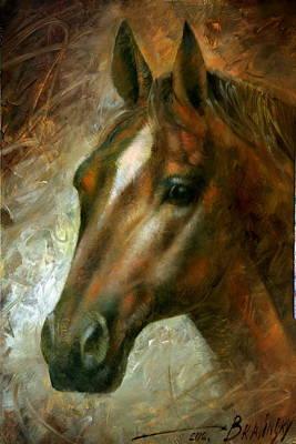 Horse Head Painting -  Horse Head by Arthur Braginsky