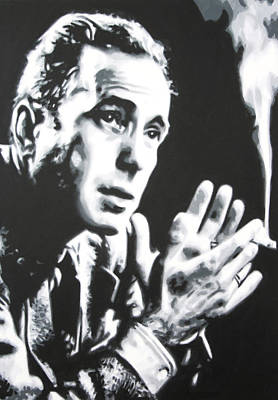 Painting - - Humprey Bogart - by Luis Ludzska