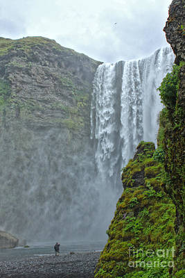 Photograph -  Iceland Skogar Waterfall 06 by Gregory Dyer