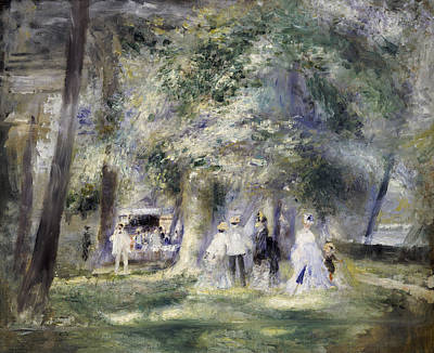 In The Park At Saint-cloud Art Print by Pierre Auguste Renoir