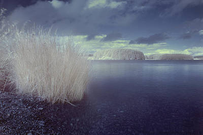 Art Print featuring the photograph  Infrared At Llyn Brenig by Beverly Cash