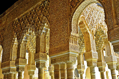 Photograph -  Inside The Alhambra by Harry Spitz