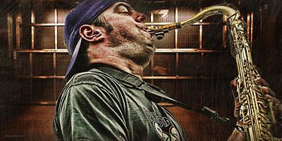 Saxophone Photograph -  Jazz Man by DMSprouse Art