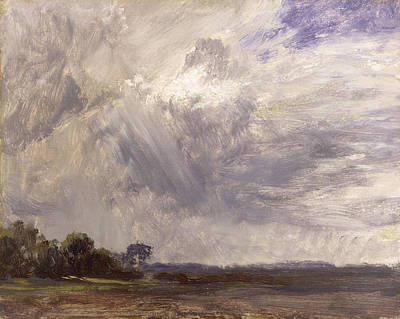 1776 Photograph -  Landscape With Grey Windy Sky by John Constable