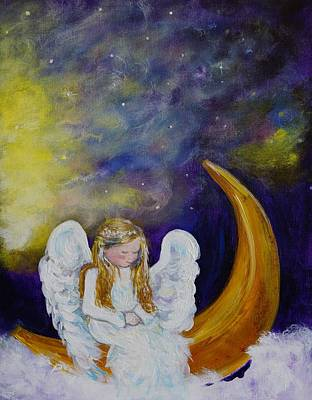 Painting -  Little Angel by Leslie Allen