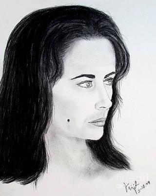 Elizabeth Taylor Drawing -  Liz Taylor Portrait by Jim Fitzpatrick