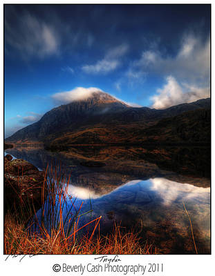 Photograph -  Llyn Ogwen And Tryfan by Beverly Cash