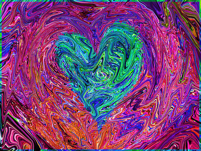 Fun Patterns -  Love From The Ripple Of Thought  V 3  by Kenneth James