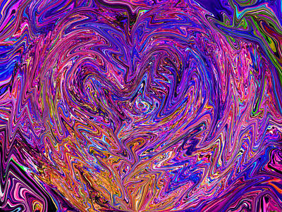 Love From The Ripple Of Thought  V 6  Art Print